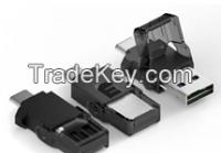 USB DUAL TYPE READER