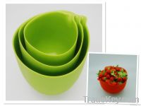 hot sale silicone salad bowl, meauring bowl