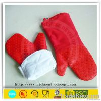 2013 best seller silicone oven glove with cotton inside