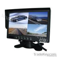 7 inch quad view monitor