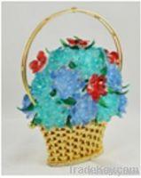 Crystal Flower Basket Decoration Pieces