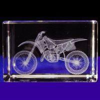 Crystal Motorbike Model Home Decor Piece