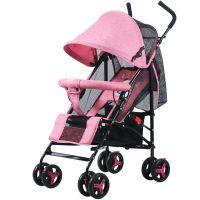 CoBaby Carriage Travel Stroller, Cover Infant Car, Foldable Baby Pram - Backrest 3 Level Adjustable Can Sit or Lie