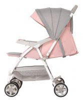 Bassinet Stroller System, Light Weighted Pram, Baby Trolley in Linen Cloth - Portable, Folderble, Allowed In Airplane