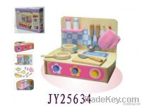 wooden kitchen set for little girl