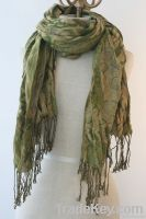 100% Pashmina Animal Print Scarf
