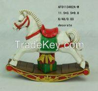 rocking horse resin decoration