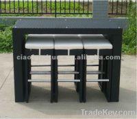 rattan furniture outdoor bar set