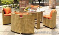 outdoor rattan garden coffee set
