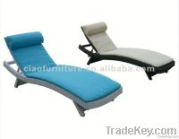 rattan outdoor chaise lounger