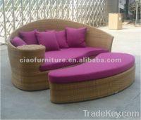 patio wicker furniture lounger