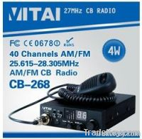 CB-268 CB Radio AM/FM Transceiver