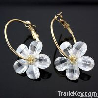 Pinwheel Hoop Earrings
