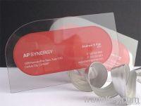 CMYK Offset or Silkscreen Printing Plastic Transparent Business Card