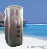 commercial solarium with vibrator, vertical tanning bed