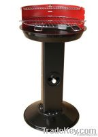 Stainless Steel Pedestal BBQ Grill