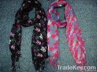 fashion skull woven scarf