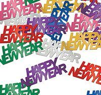 Metallic PVC/PET Happy New Year confetti Multi-color available