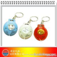 plastic musical photo keychain
