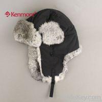 Wind&Water Proof Trapper Hat, Rabbit Fur