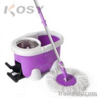 Microfiber floor cleaning spin mop