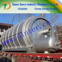 Latest design DTA waste tyre pyrolysis fuel oil equipment  with CE