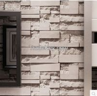 Brief 3d stereo brick wallpaper fashion clothes tv background stone