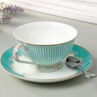High quality bone china ceramic coffee cups &saucers