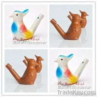 clay bird, ceramic bird whistle water bpeacock ird whistle