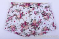 girls print twill shorts