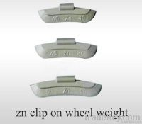 Zn/zinc clip on  wheel weight