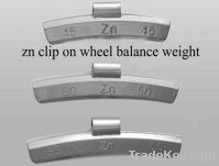 Zn clip on wheel weights