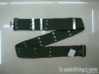 knitted army belt