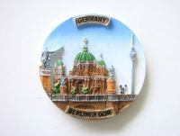 Resin souvenir 3d fridge magnet -Berlin Cathedral, Germany