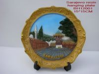 Resin souvenir hanging plate