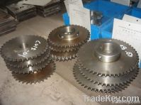 High precision casting steel double spur gear