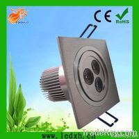 CE&Rohs high quality 3W square led downlight