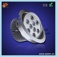 high lumen round 9w led drop ceiling light fixture
