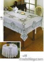 Polyesterpolyester oval tablecloth