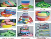 LOGO customized silicone bracelet enviromental with RoHS/CE