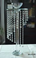 Cheap! Hanging Crystal Beaded Wedding Centerpieces / Glass Candle Holders / Flower Stand