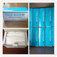 High Filtration Flu Mask 3-Ply Disposable Non woven Surgical Face Mask With Flat Ear Loop