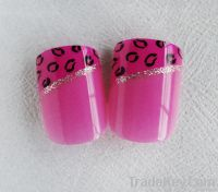 3D Glitter French Nail In Set