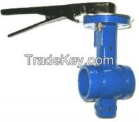 Alvenius/Klambon/Victaulic type Butterfly Valves with Shouldered Ends