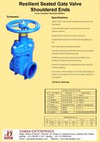 Alvenius/Klambon/Victaulic type Resilient Seated Gate Valve with Shouldered Ends