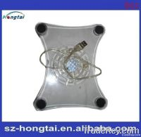 Super Mini three fans and cheapest laptop cooling pad, notebook cooling