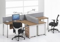 Office partition with desktop panel