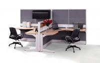 L shape fabric panel office partition