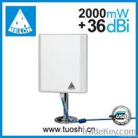 Outdoor panel antenna 36dbi high power wifi usb adapter Melon N4000