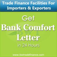 Avail Bank Comfort Letter for Importers and Exporters